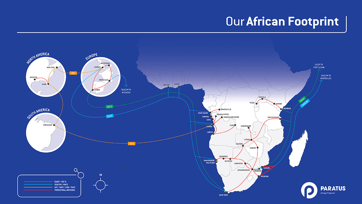 Paratus activates direct Terrestrial Fiber Link from Teraco to Maputo